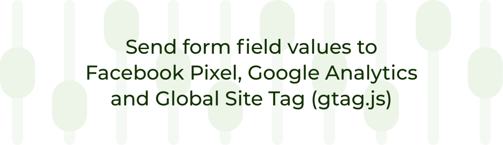 Send form field values to Facebook Pixel, Google Analytics and Global Site Tag (gtag.js)